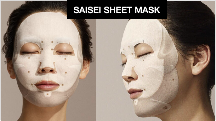 JAPAN SAISEI SHEET MASK (LIPS, EYES, FACE), GARNET POWDER & LAFLORA & SAISEI MATERIAL FIRST IN THE WORLD